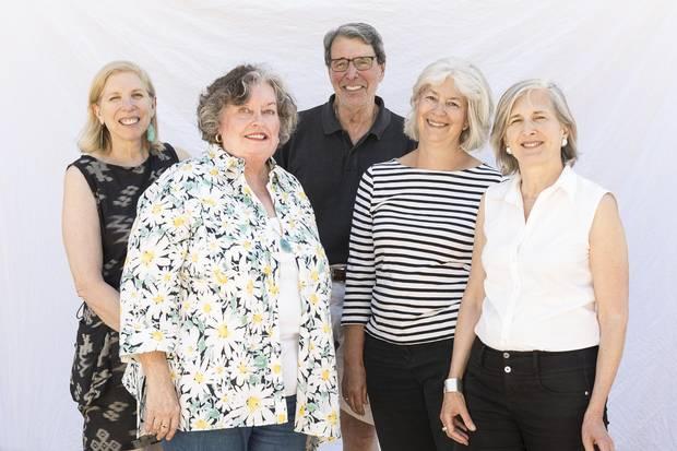 From left: Sponsors Jane Gotlib, Mary McConville, Lawrence Marshman, Carrie Clark, Catherine Tanner.