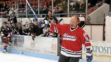 Wendel Clark at the Hockey for Heart tournament in Brantford, Ont., in April. For him, eating the right foods is a challenge: 'I love junk and desserts ? all desserts.' (Roger Hallett/Roger Hallett/The Globe and Mail)