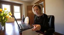 Andrea Ellison traded a higher income for less steady but more flexible work so she could spend more time with her children. (DEBORAH BAIC/THE GLOBE AND MAIL)