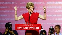 Ontario Liberal Party leader Kathleen Wynne speaks at her election party headquarters in Toronto, June 12, 2014. The Liberals won a majority government. (MARK BLINCH/REUTERS)