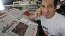Cartoonist Jonathan Shapiro says the current pressure against the media is not nearly as bad as they were during apartheid, but has worsened in recent years. (Schalk van Zuydam/The Associated Press)