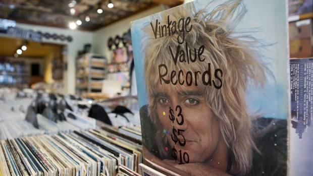 Some of the many records for sale at Kops Records in Toronto. Kops is Toronto's oldest record store and sold wholesale to Sam the Record Man. (MATTHEW SHERWOOD FOR THE GLOBE AND MAIL)