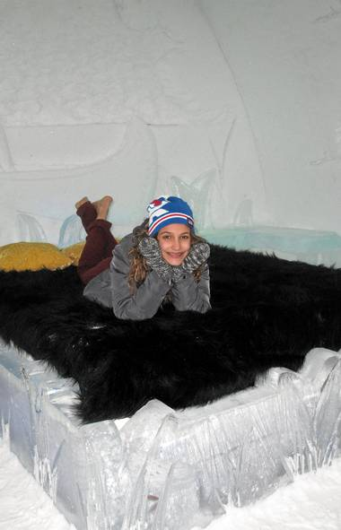Want to sleep in a castle of ice? Hotel de Glace, a short drive outside Quebec City, is open until March 25. (Yes, there is a real mattress - not just ice - under the fur throw.) (Sarah MacWhirter/The Globe and Mail/Sarah MacWhirter/The Globe and Mail)