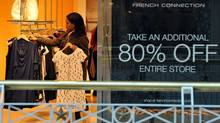 With worried consumers pinching their pennies, retailers are not expecting any great surge in sales this coming holiday shopping season. JEWEL SAMAD/AFP/Getty Images (JEWEL SAMAD/AFP/Getty Images)