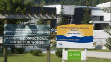 The Alouette Correctional Centre for Women is seen in Maple Ridge, B.C. Sunday, Aug. 15, 2010. (Jonathan Hayward/THE CANADIAN PRESS)