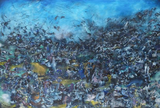 We Haven't Landed on Earth Yet, by Ali Banisadr, 2012
