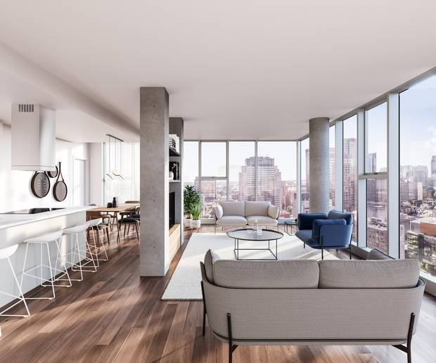 A unit at the planned Laurent & Clark condominium project.