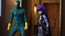 Aaron Johnson as Kick-Ass and Chloë Moretz as Hit Girl star in Kick Ass.