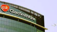 The company logo of GlaxoSmithKline. (ALASTAIR GRANT/AP)