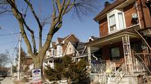 A house recently sold during winter real estate market in Toronto, February 2013. (Fernando Morales/The Globe and Mail)