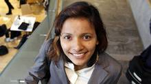 Sonali Dash, an MBA student from India, poses for a photo while on break at York University's Schulich School of Business in Toronto, Ontario, Canada. (Deborah Baic/The Globe and Mail)