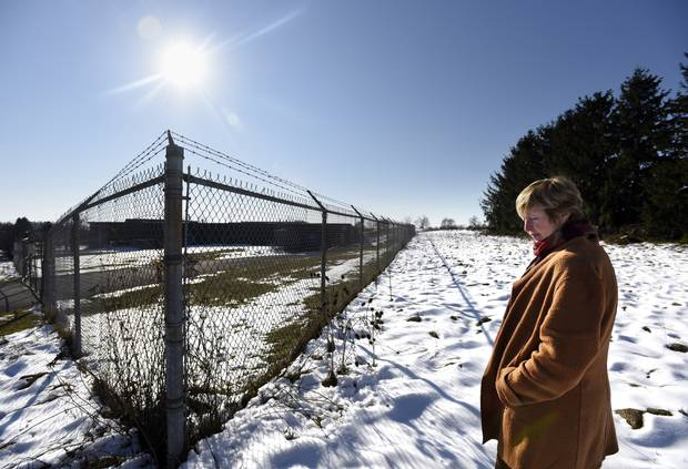 Save our Water's Donna McCaw walks around the five-acre plot that Nestlé conditionally offered to purchase.