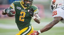 Edmonton Eskimos Fred Stamps has 431 career receptions, 6,812 yards and 42 touchdowns, but right now the Edmonton slotback would trade it all in for one victory for the struggling Eskimos. (file photo) (John Ulan/THE CANADIAN PRESS)