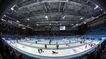 A look at the curling venue at the Sochi Winter Olympics (Robert F. Bukaty/AP)
