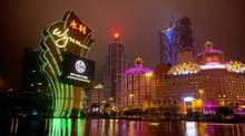 Macau's visitor numbers are rising by about 20 per cent a year and its gross gaming take passed $38-billion (U.S.) last year, more than six times that of Las Vegas. (DANIEL J. GROSHONG/NYT)