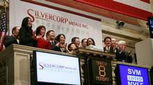 Silvercorp Metals at its debut on the New York Stock Exchange in 2010. Started in 2004, the Vancouver-based company today is China's largest primary silver producer. (Mark Lennihan/Associated Press/Mark Lennihan/Associated Press)