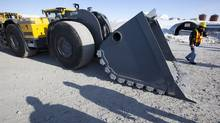 A mine scooper which can be converted to be used remotely at the Diavik diamond mine in the North West Territories. (JOHN LEHMANN/JOHN LEHMANN/GLOBE AND MAIL)