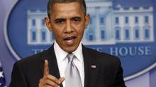 U.S. President Barack Obama speaks about the fiscal cliff to members of the media in the White House Briefing Room December 19, 2012. (KEVIN LAMARQUE/REUTERS)