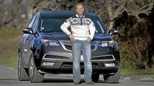 Gerry Dee and his 2012 Acura MDX. (Moe Doiron/Moe Doiron/The Globe and Mail)