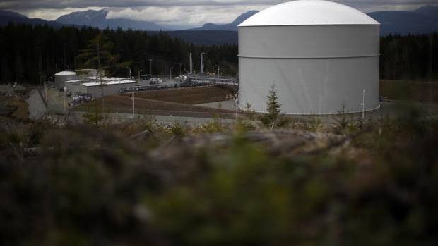 It takes about 200 days to fill a massive freezer at the Mt. Hayes storage facility, but the tank can hold 1.5 billion cubic feet of liquefied natural gas. The Mt. Hayes Natural Gas Storage Facility in Mt. Hayes, B.C., on April 2, 2013. (CHAD HIPOLITO FOR THE GLOBE AND MAIL)