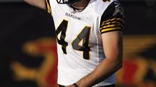 Hamilton Tiger-Cats punter Josh Bartel (Aaron Lynett/The Canadian Press)