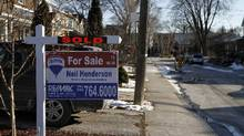 File photo of a house sold in Toronto. (Fernando Morales/The Globe and Mail)