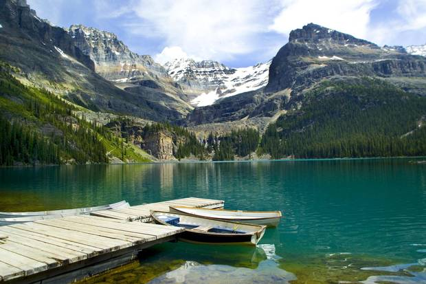 Moraine Lake in Banff National Park.