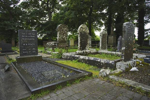 W. B. Yeats, whose grave is seen above, wished to be buried in County Sligo.