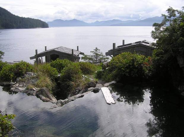 A Haida Gwaii hot spring.