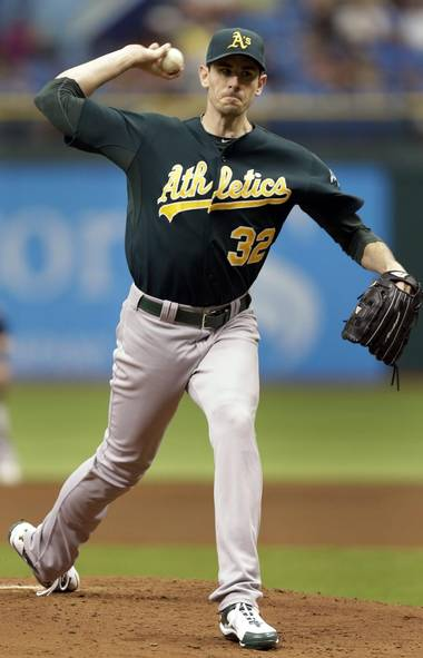 Like Lance Armstrong, baseball players are on constant lookout for an edge when it comes to peak performance, and their wives are no different, apparently. But given that two Bay Area players have been suspended in the last 10 days for testing positive for performance-enhancing drugs, Amanda McCarthy, wife of the Oakland A's pitcher, decided it was worth doing due diligence – via Twitter, naturally – before giving her husband a helping hand between the sheets. (Chris O'Meara/AP)