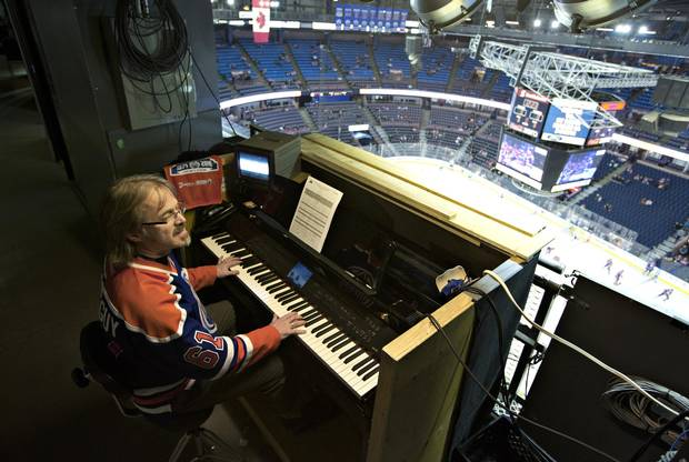 Gordon Graschuk, the organist at Rexall Place, is a lifelong Oilers fan.