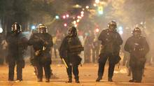Riot police in Vancouver June 15, 2011. (JOHN LEHMANN/John Lehmann/The Globe and Mail)