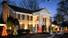 Graceland is all decked out for Christmas. (ELVIS PRESLEY ENTERPRISES, INC/EPE, Reg. U.S. Pat & TM Off)
