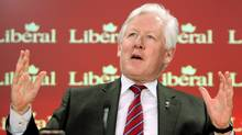 Liberal MP and foreign affairs critic Bob Rae holds a news conference in Ottawa on Feb. 24, 2011. (FRED CHARTRAND/THE CANADIAN PRESS)