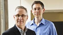 Dr. Anthony Levitt, left, and Dr. David Kreindler are part of Sunnybrook's efforts to improve treatment for youths with mental health issues and their families (Not to be printed, broadcast or transmitted without the permission of MediaSource or its representatives.)