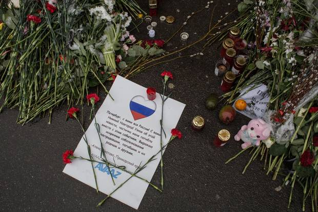 In Saint Petersburg, Russia, on April 3, 2017, a bomb blast tore through a subway train in Russia's second largest city, St. Petersburg, killing 14 people and wounding more than 40.
