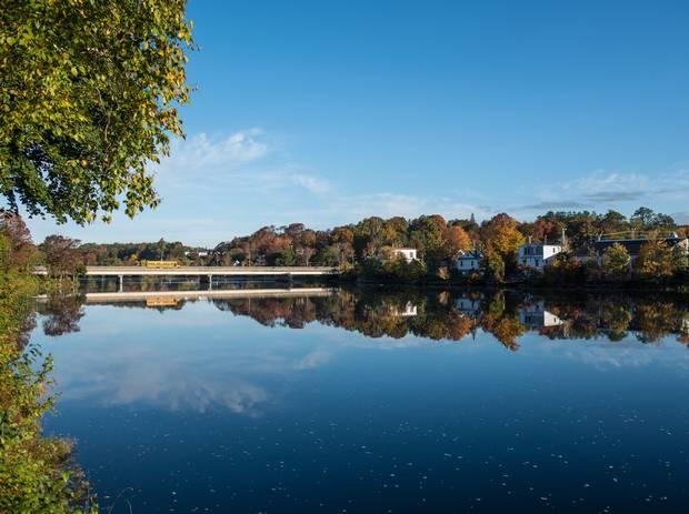The town of Bridgewater, Nova Scotia.