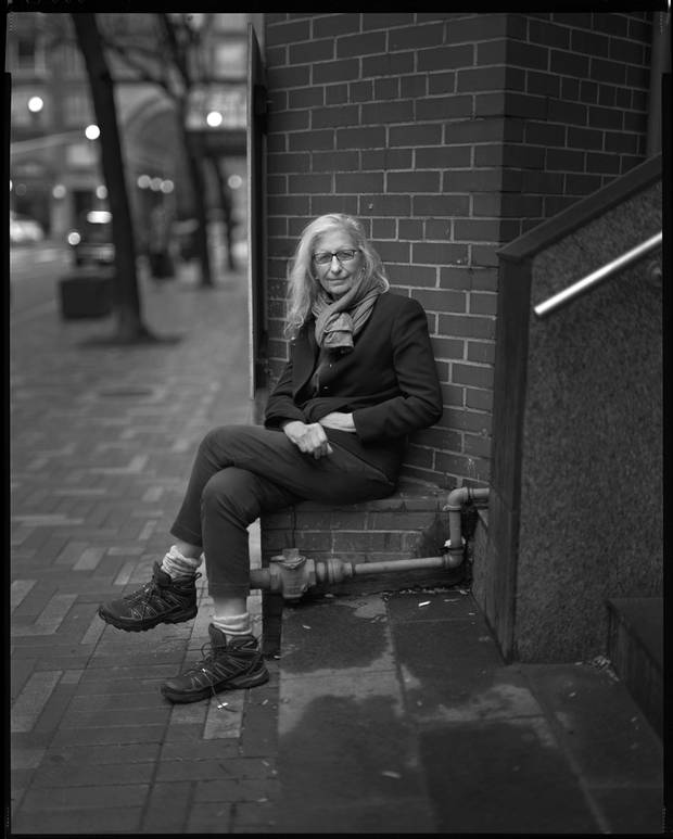 The photographer Annie Leibovitz is photographed during an interview in Toronto on Nov. 2.