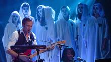 Ryan Gosling of Dead Man's Bones performs with a choir from Etobicoke School of the Arts in Toronto. The band plays Vancouver October 24. (Della Rollins)