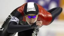 Christine Nesbitt of Canada competes in the women's 1500m ISU World Single Distance Speed Skating Championships in Heerenveen. (MICHAEL KOOREN/Reuters)
