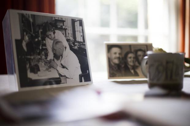 Old photos of the now 100-year-old Canadian-born medical officer sit around her home.