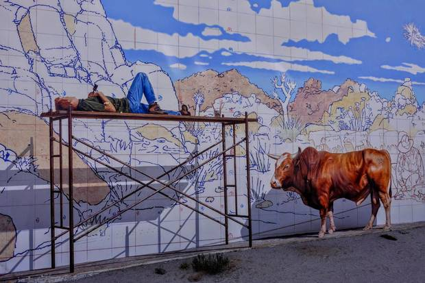 Murals at TwentyNine Palms take cues from the light and colours of the desert.