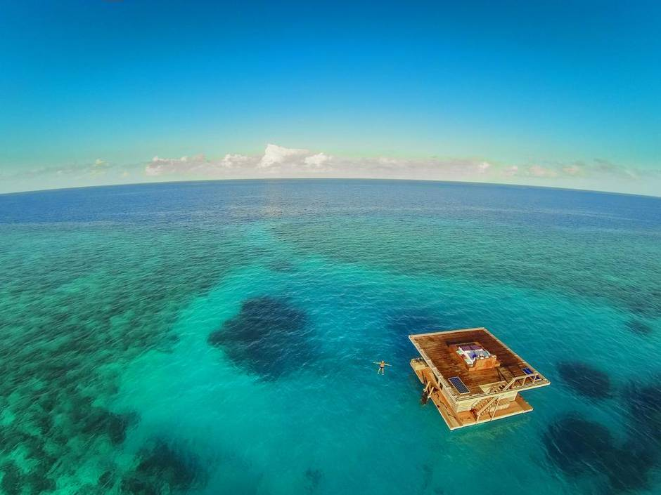 Underwater bedroom over a coral reef: you haven't seen a hotel room like this