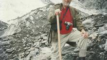 Harold Ship is seen in New Zealand on a volcanic moraine in 1990. (HANDOUT)