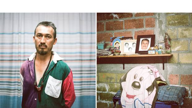 """The searchers choose their sites based on anonymous tips that come in by phone or on Facebook. 'Someone says, """"I saw something here,"""" or """"You should look there,"""" explains Mario Vergara, who digs each week outside Iguala in the hope of finding his brother, Tomas."""
