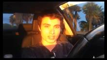 "A frame grab from a video that was posted on You Tube by an individual who identified himself as Elliot Rodger is shown in this May 24, 2014 photo. The family lawyer says that 22 year-old Elliot Rodger, son of the director Peter Rodger, has been tentatively identified as the suspect in a shooting rampage that killed 6 people in the college community of Isla Vista, California near the UC Santa Barbara campus on May 23, 2014. The video was removed from YouTube on Saturday, hours after a shooting with the advisory ""The video has been removed because its content violated YouTube's Terms of Service."" (HANDOUT/REUTERS)"