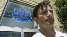 Dallas Eakins poses outside the Ricoh Colliseum at the CNE, August 25, 2005. (J.P. MOCZULSKI For The Globe and Mail)