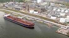 The oil tanker Seaqueen at the Valero Energy Corp. refinery at the Port of Corpus Christi, Tex. (Eddie Seal/Eddie Seal/Bloomberg)