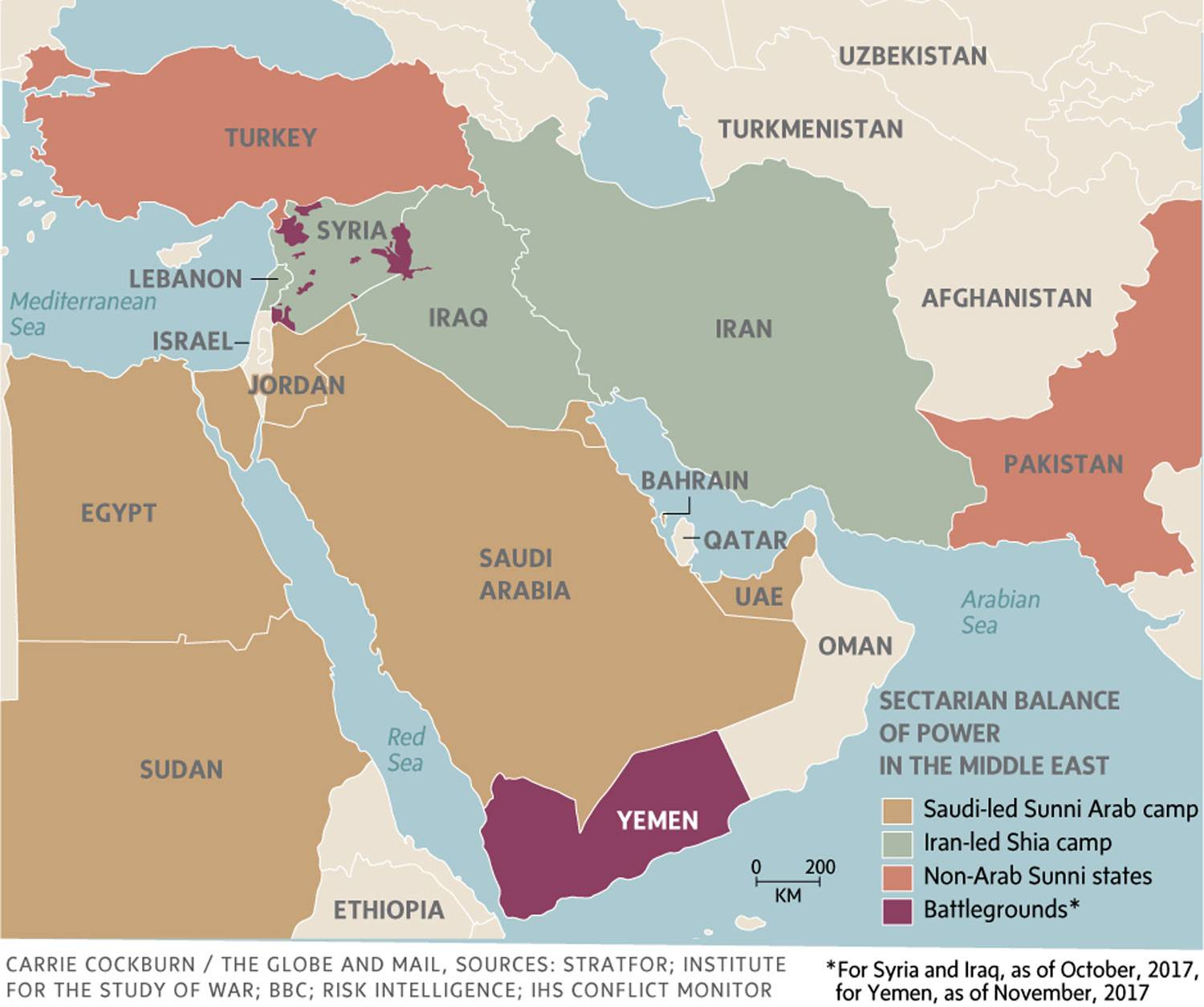 The New Saudi Crown Prince Is Upending The Middle East Is He - Middle east map conflict