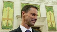 Nigel Wright, chief of staff for Prime Minister Stephen Harper, is shown appearing as a witness at the Standing Committee on Access to Information, Privacy and Ethics on Parliament Hill in Ottawa on Nov. 2, 2010. (Sean Kilpatrick/THE CANADIAN PRESS)